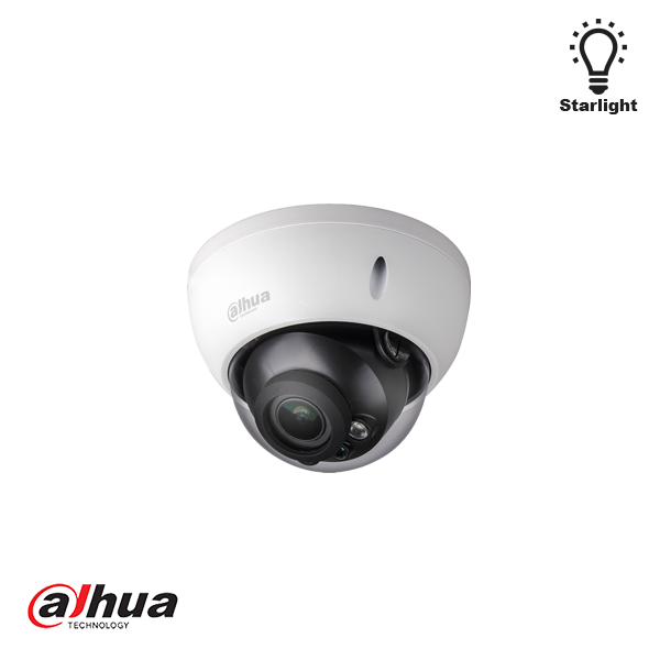 DAHUA 2 MEGAPIXEL STARLIGHT IR VANDAL-PROOF DOME 2.7-13.5MM MOTORIZED LENS, WDR